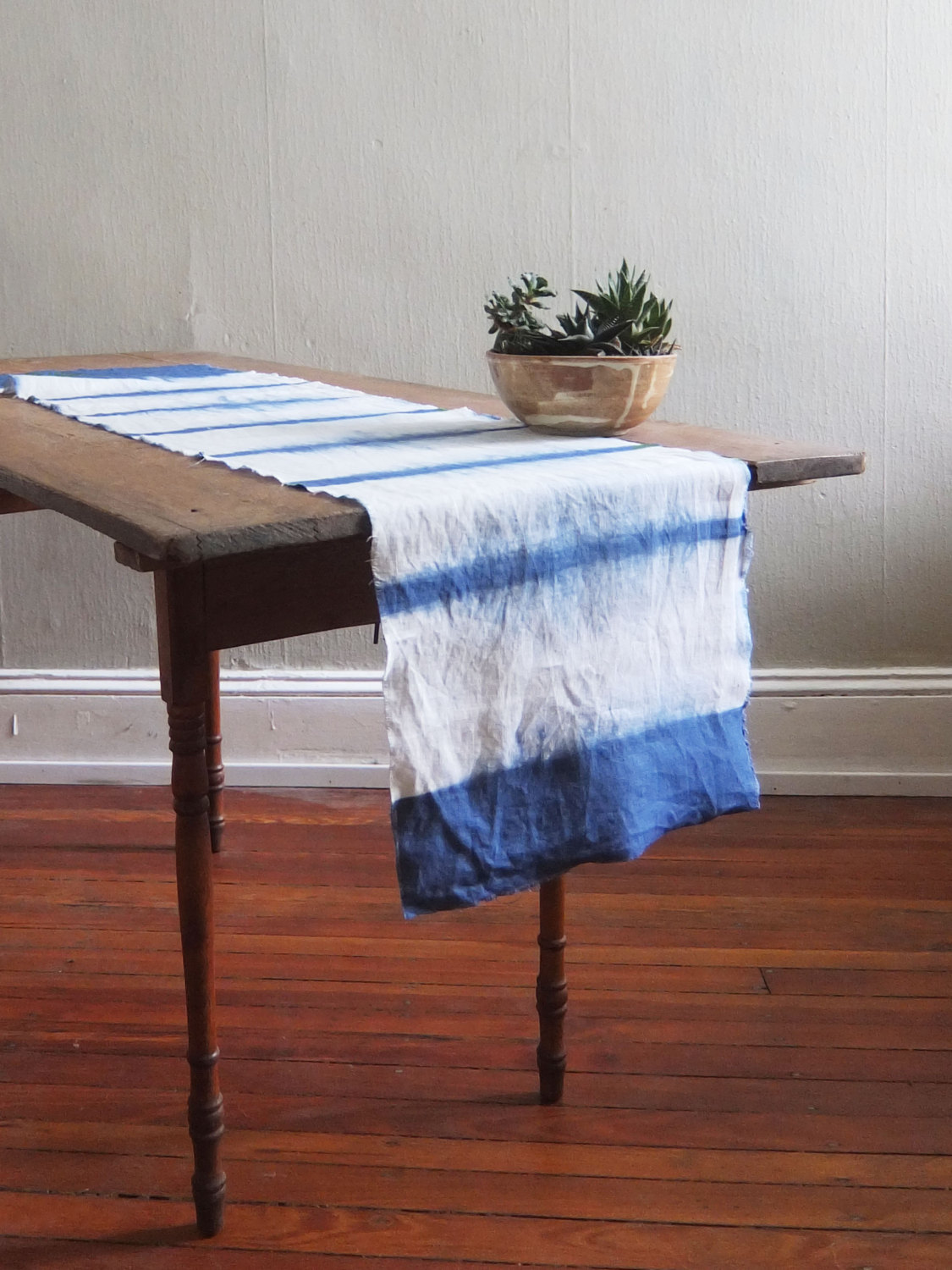 Shibori table runner from Flora Poste Studio