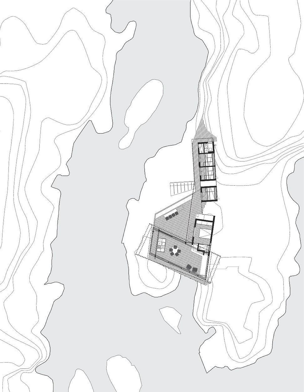 Site plan of amazing Norwegian getaway on an island