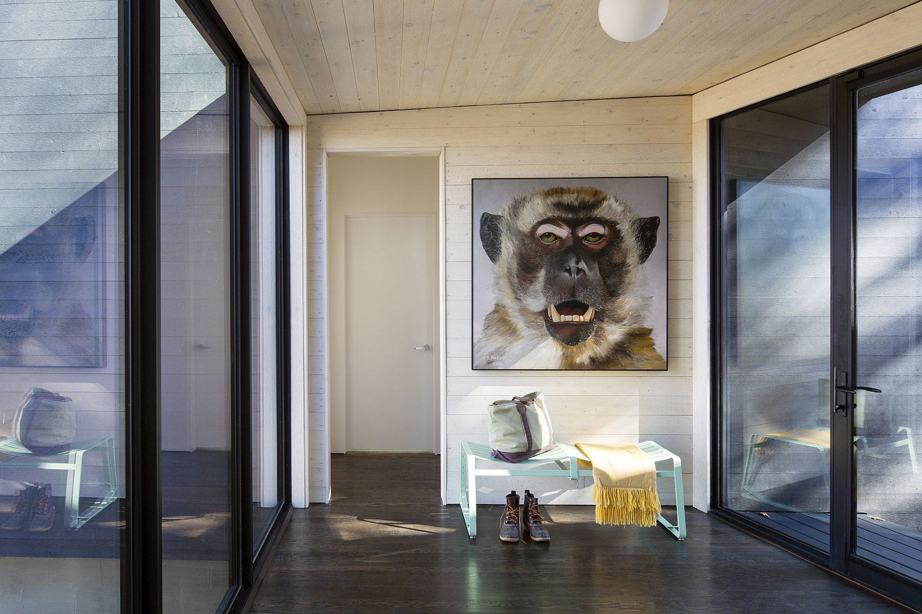 Sliding glass doors bring the outdoors inside this River House