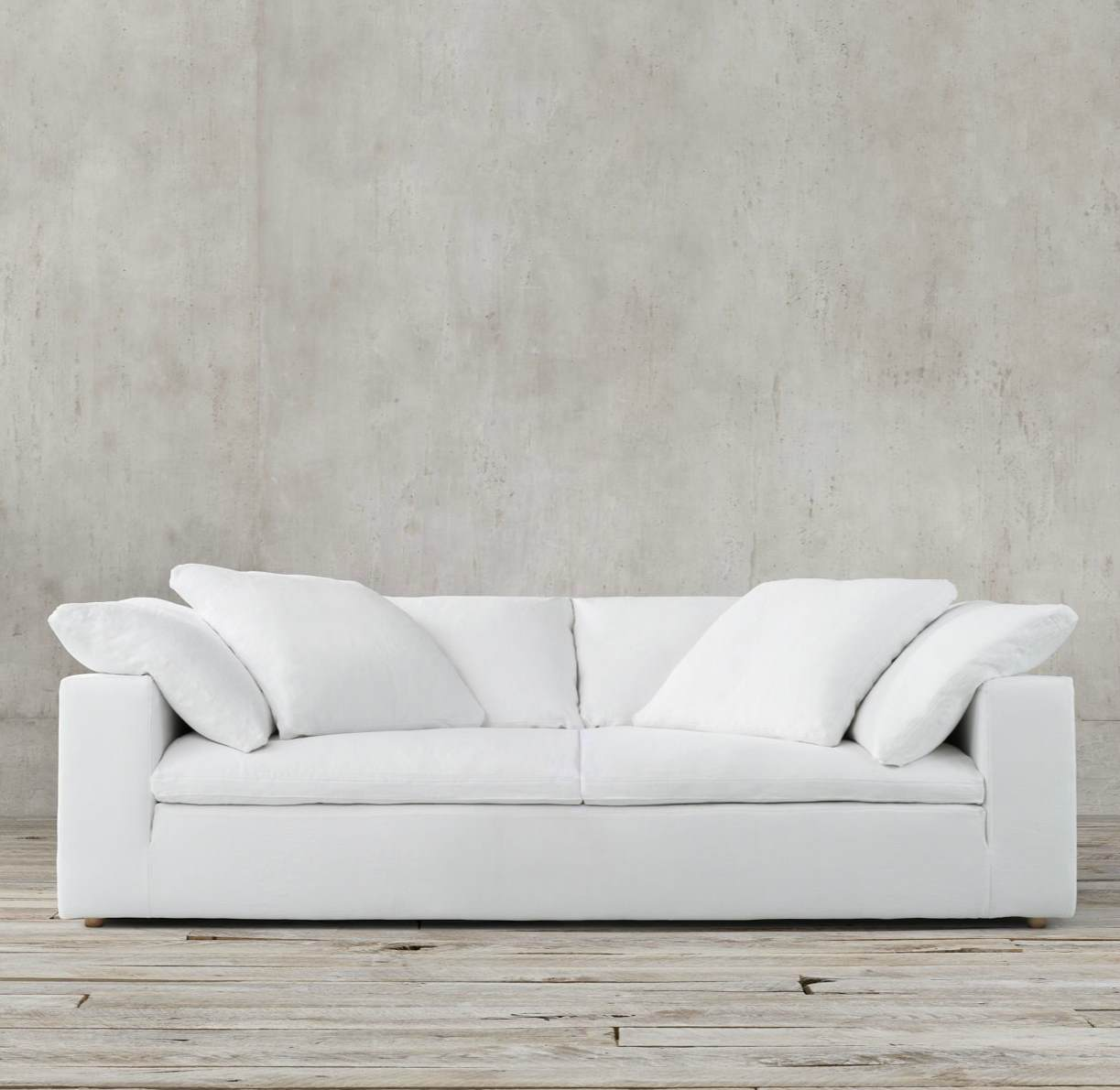 Slipcovered cushion sofa from Restoration Hardware