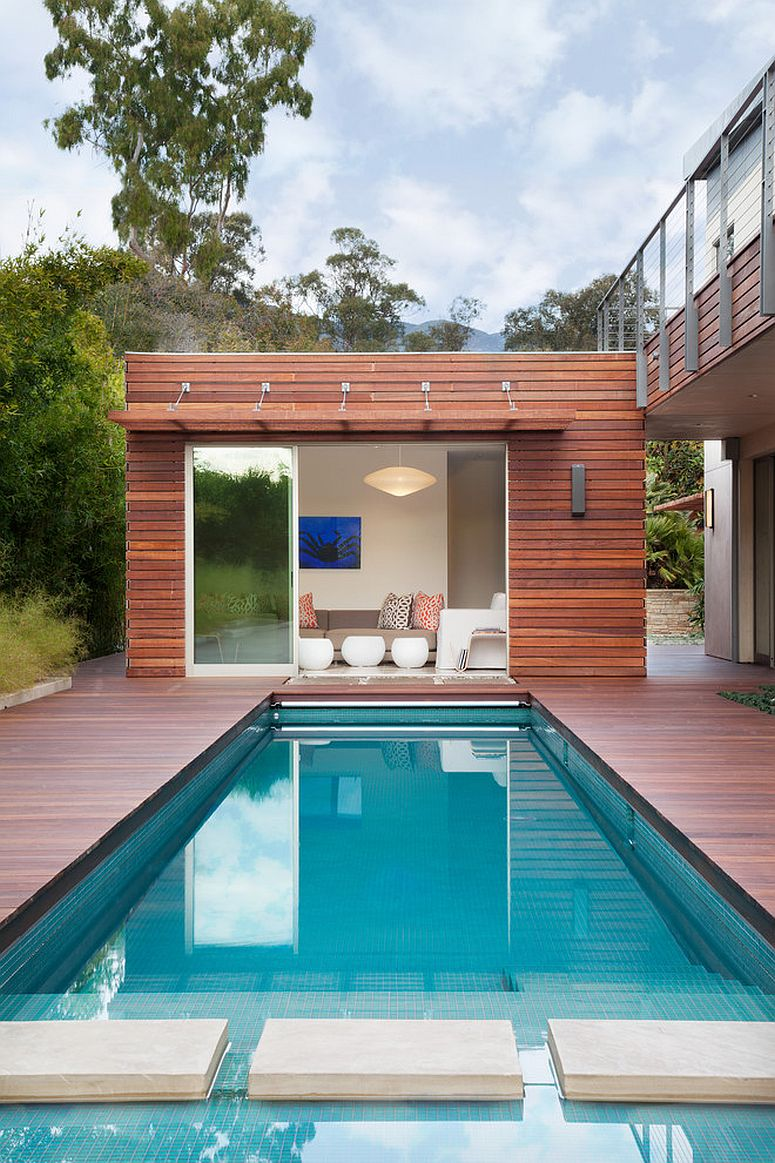 Charmant ... Small And Stylish Contemporary Pool House Packs Quite A Punch! [Design:  Maienza