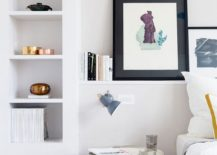 Small bedroom shelf and display idea