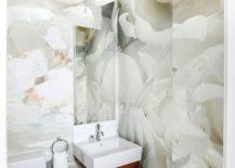 Small contemporary powder room design