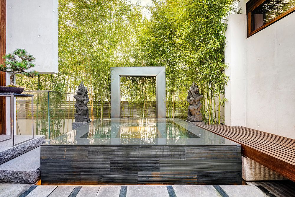 Small modern Asian garden and Zen retreat for contemporary Vancouver home [Design: RUFproject / Paul Sangha Landscape Architects]
