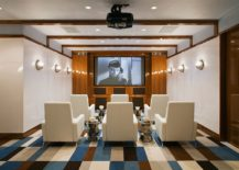 Smart-beach-style-home-theater-in-white-with-colorful-flooring-217x155