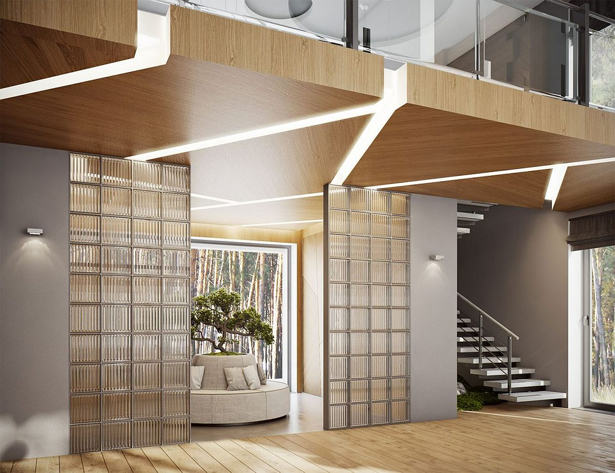 Smart entry brings a dash of greenery to the urbane interior