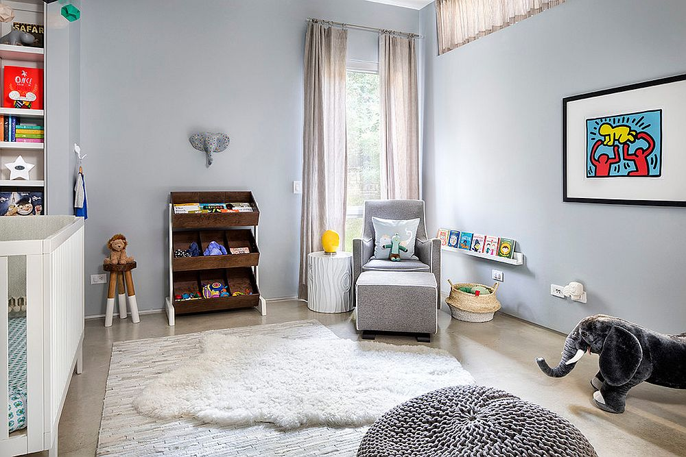 Smart nursery combines Scandinavian and industrial styles [Design: Gottesman Residential Real Estate]