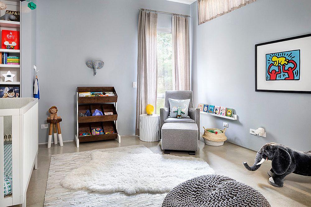 Smart nursery combines Scandinavian and industrial styles