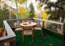 Smart rustic deck of the treehouse takes you into the forest canopy