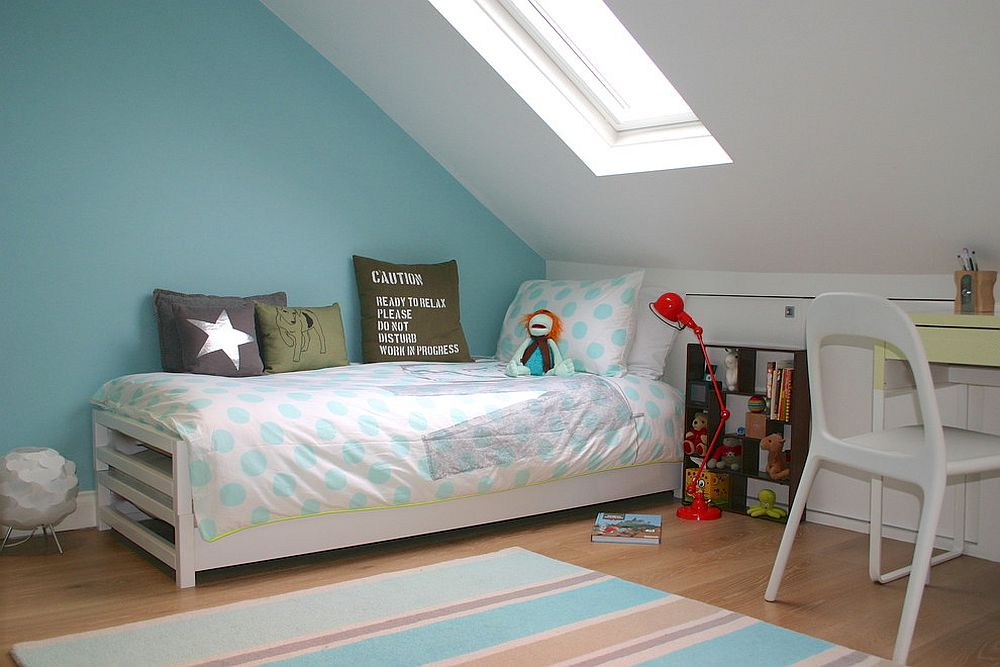 Smart use of skylight in rooms with low ceiling can create a sense of spaciousness 20 Delightful Kids' Rooms with Skylights