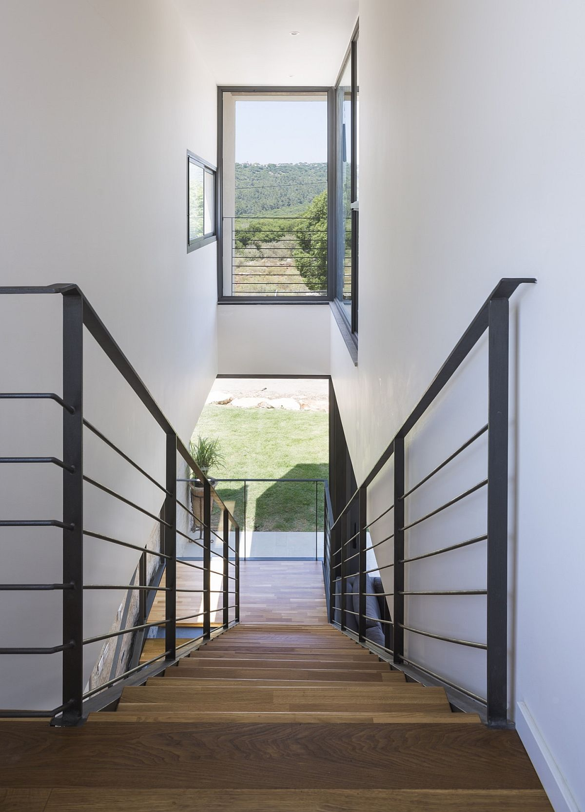Smart use of windows and stairwell brings in ample natural light