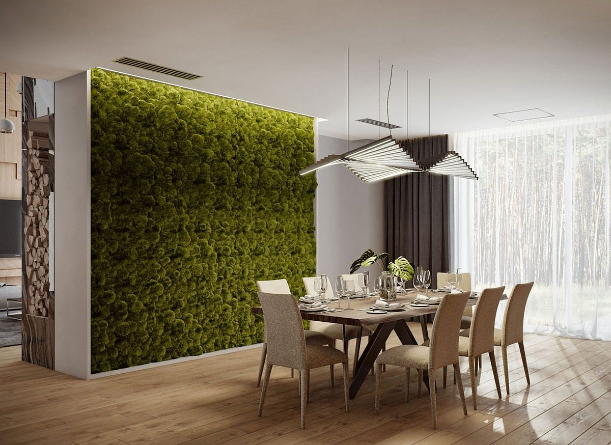 Smart wall brings the carm of a living wall to the dining room