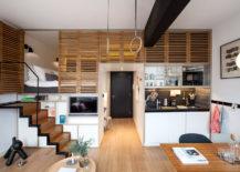 Split-level studio apartment (from Zoku via Home Designing)