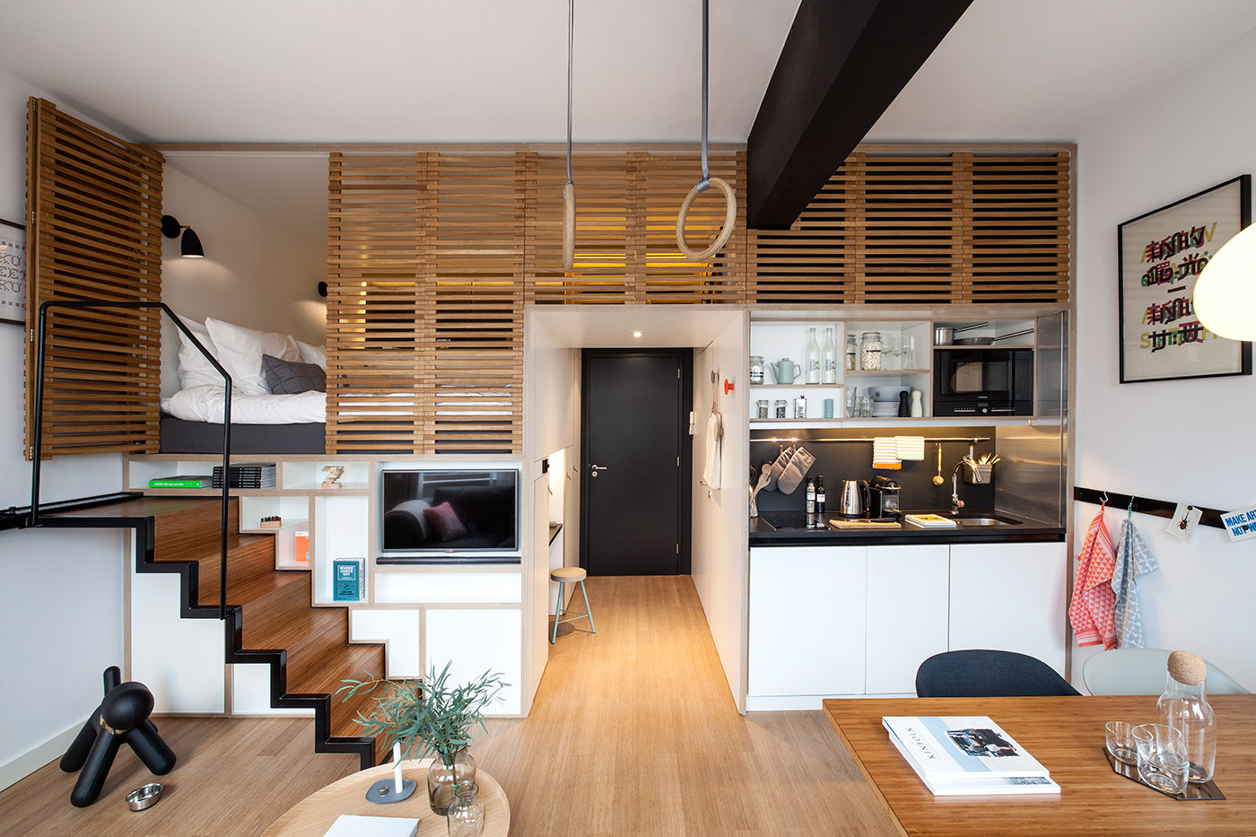 Perfect ... Split Level Studio Apartment (from Zoku Via Home Designing)