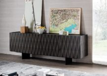 Striking Arabesque sideboard adds geometric style to the interior 217x155 Cool Contemporary Sideboards Usher in Geo Style and Textural Charm