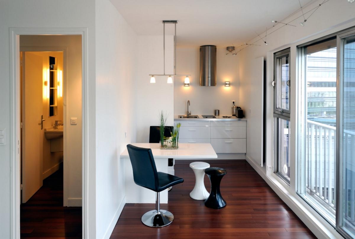 ... Studio Apartment Living By Fables De Murs