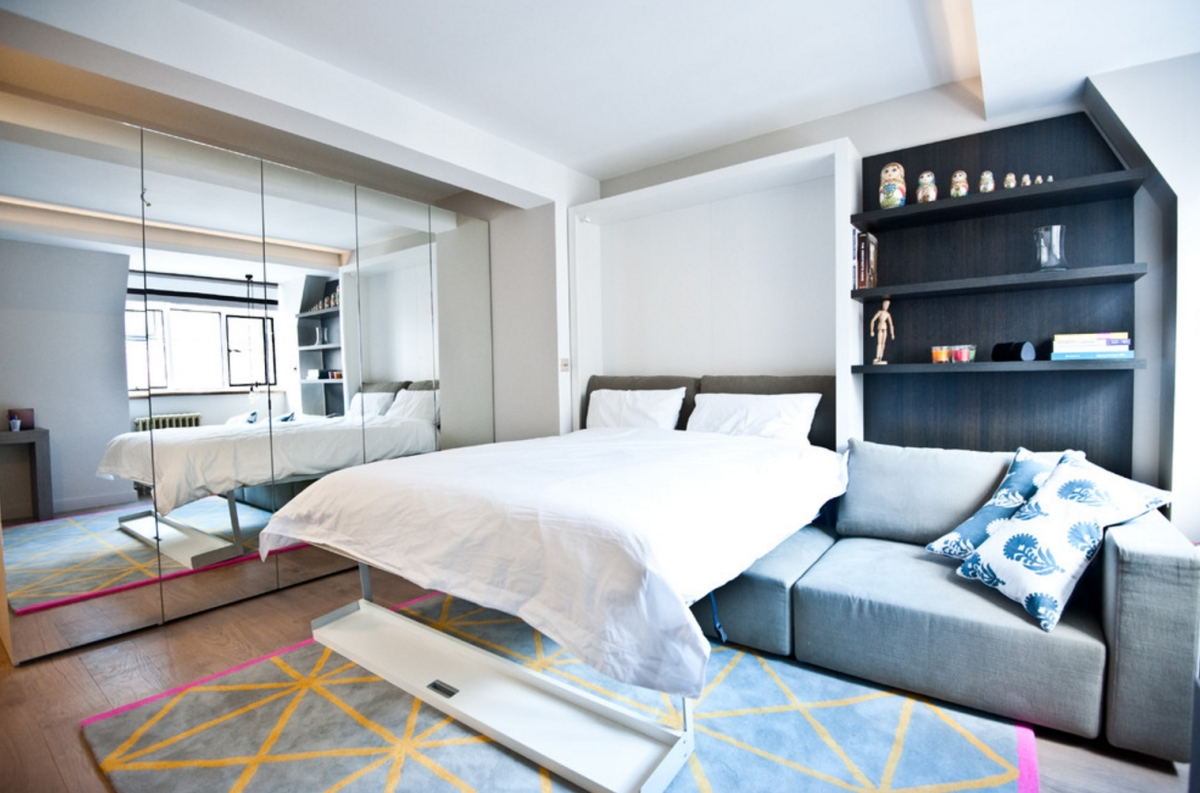 Incroyable View In Gallery Studio Apartment With Mirrored Closet Doors, From Black U0026  Milk Residential