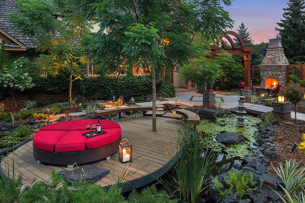 Stunning Asian garden and deck offer a mesmerizing retreat at home [Design: Mom's Landscaping & Design]