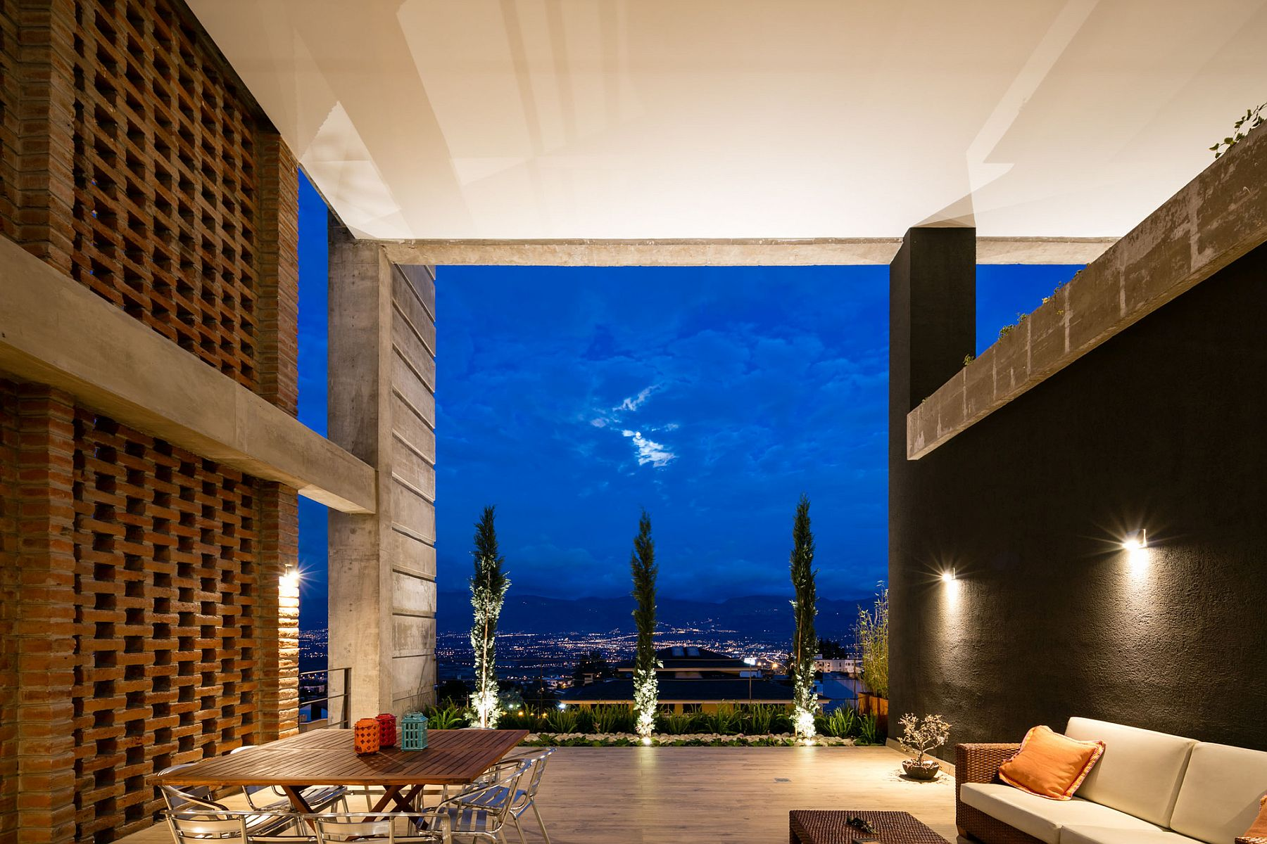 Stunning views of the valley from the shaded outdoor living area