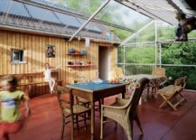 Sturdy and all-weather outdoor decor is perfect for the radiant sunroom