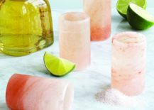 Tequila drinking glasses from Uncommon Goods