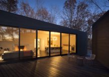 Three unique structures of the house create generous social zones between them