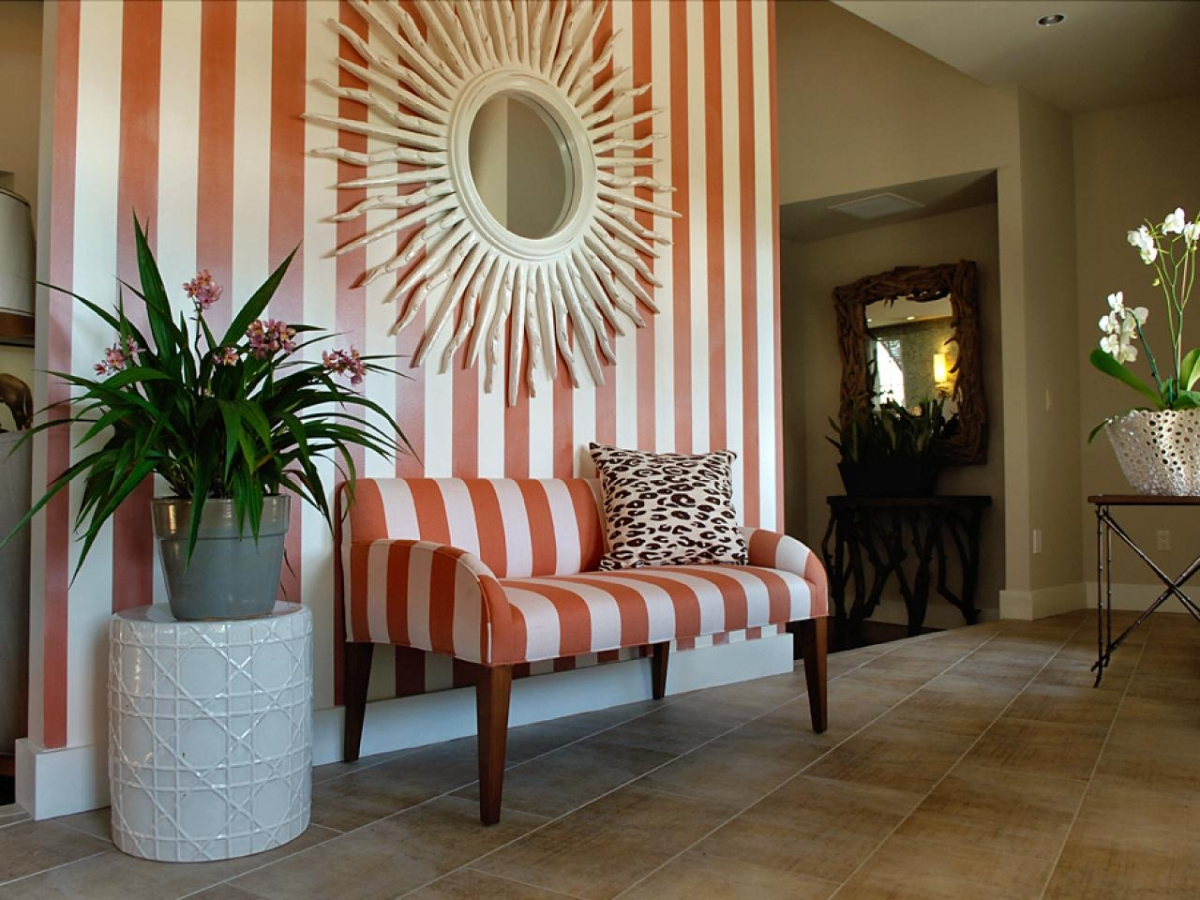 Tiled foyer featured at HGTV.com