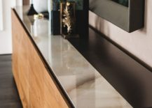 Top of the sideboard also offers ample textural contrast
