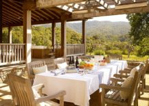 Traditional patio with outdoor dining and awesome mountain views