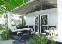 Tropical beach house front porch 217x155 Porch vs. Patio: Your Design Questions Answered