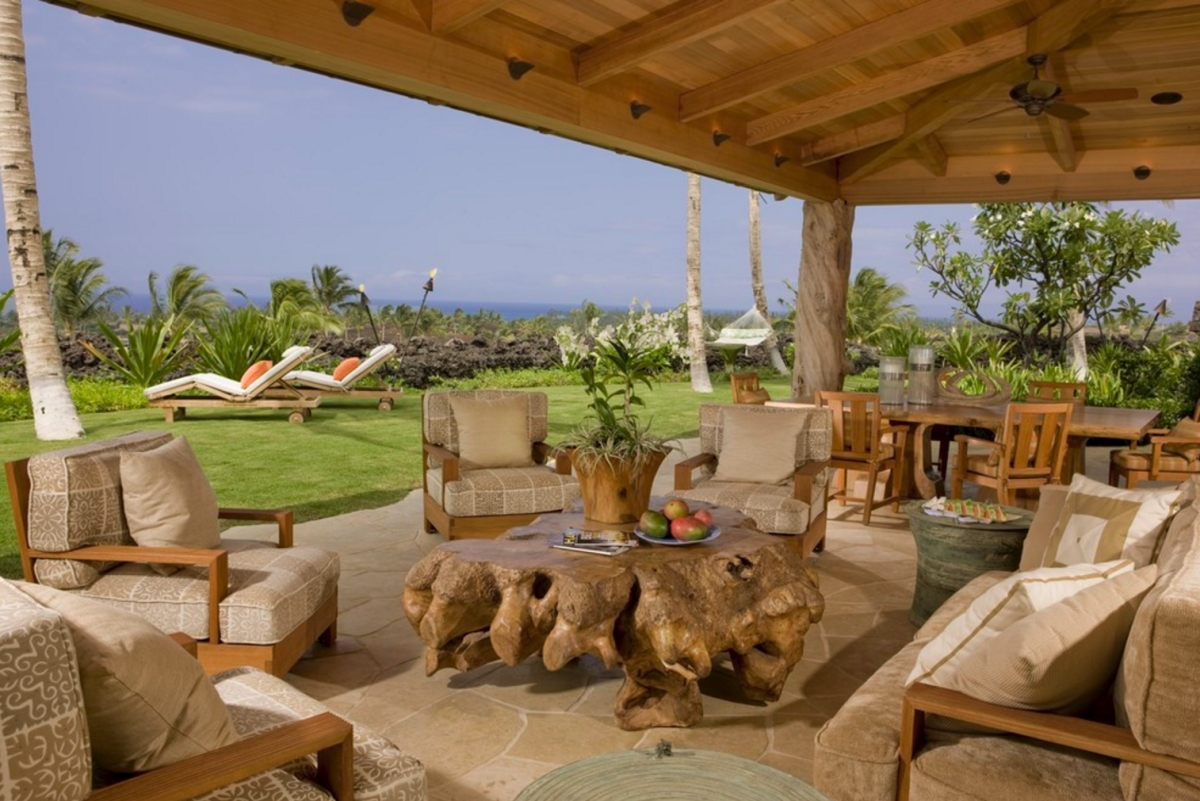 View In Gallery Tropical Lanai From Saint Dizier Design