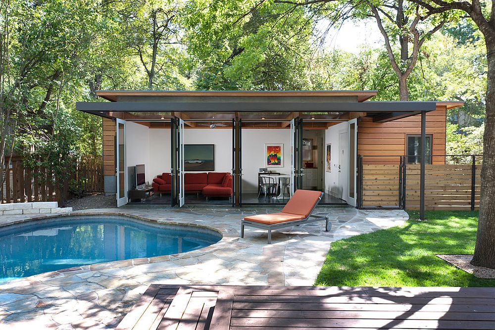 25 pool houses to complete your dream backyard retreat for Pool cabana plans
