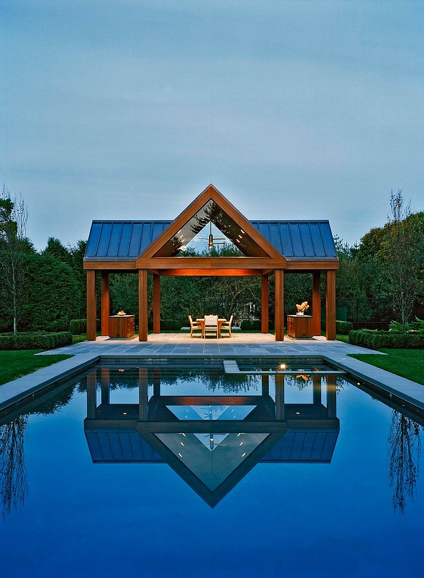 25 pool houses to complete your dream backyard retreat for Pavilion style home designs