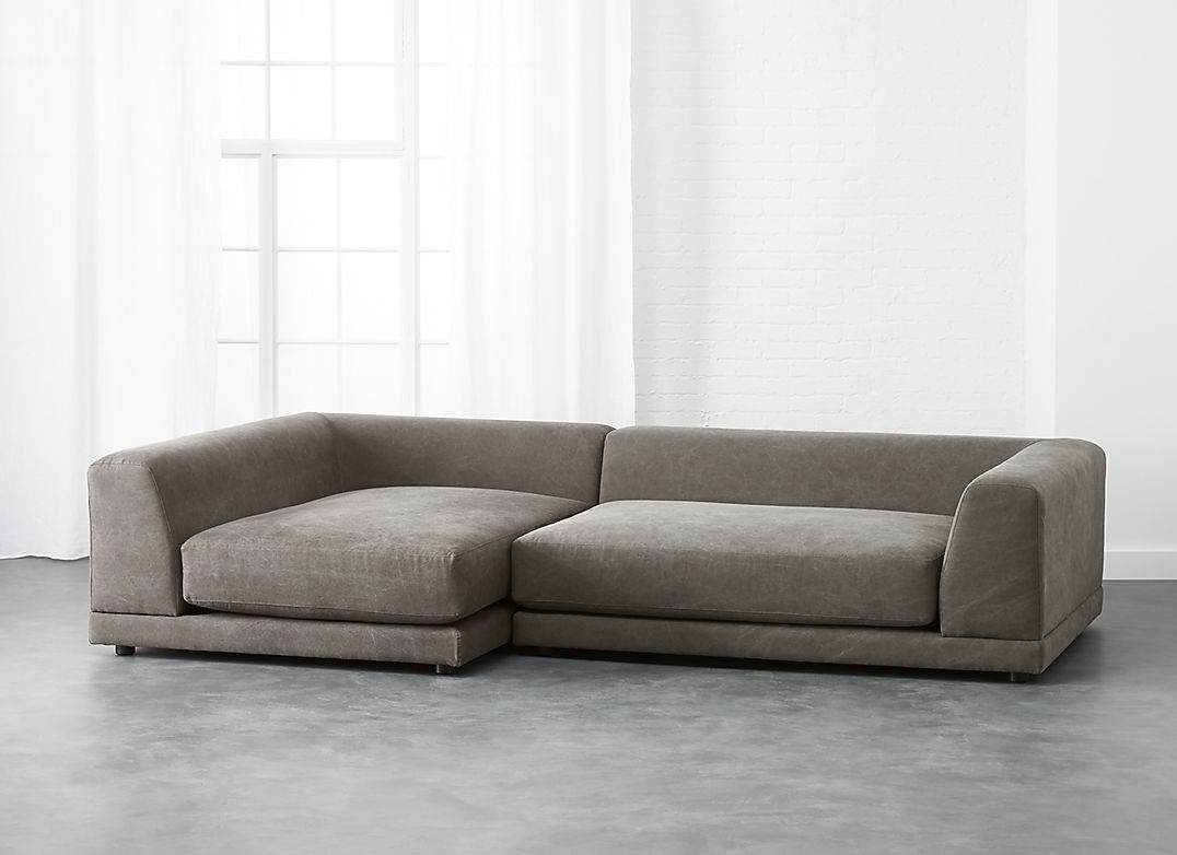 Uno 2-Piece Sectional Sofa with a low back