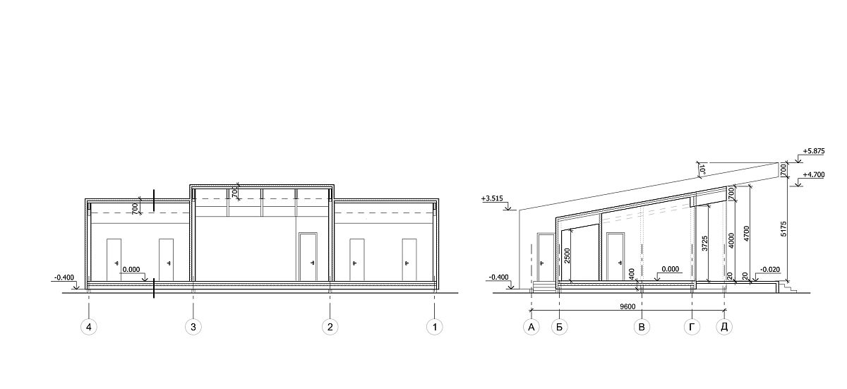View of design and plan of the chalet in Ukraine