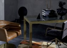 Warm tones in a grey room by CB2