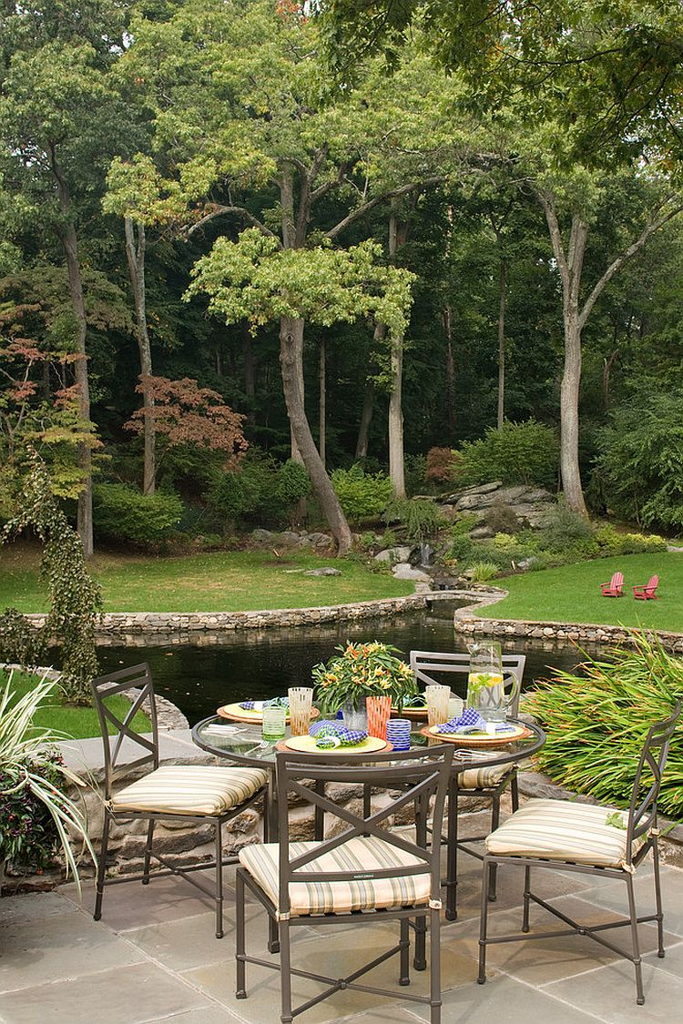 Who needs a vacation with a backyard and patio like this