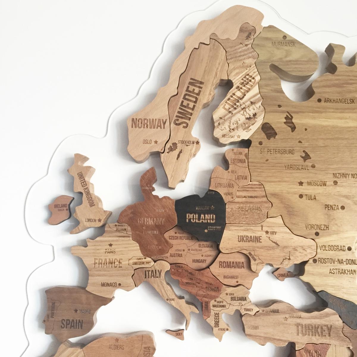 Wooden Map by Aziz Abdulmazhitov.