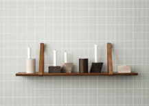 Wooden geo candleholders from ferm LIVING 217x155 Design Tips for Rooms with Grey Walls