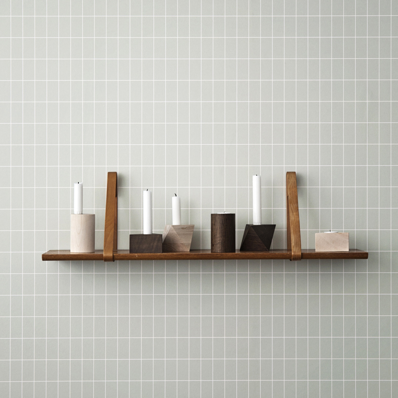 Wooden geo candleholders from ferm LIVING
