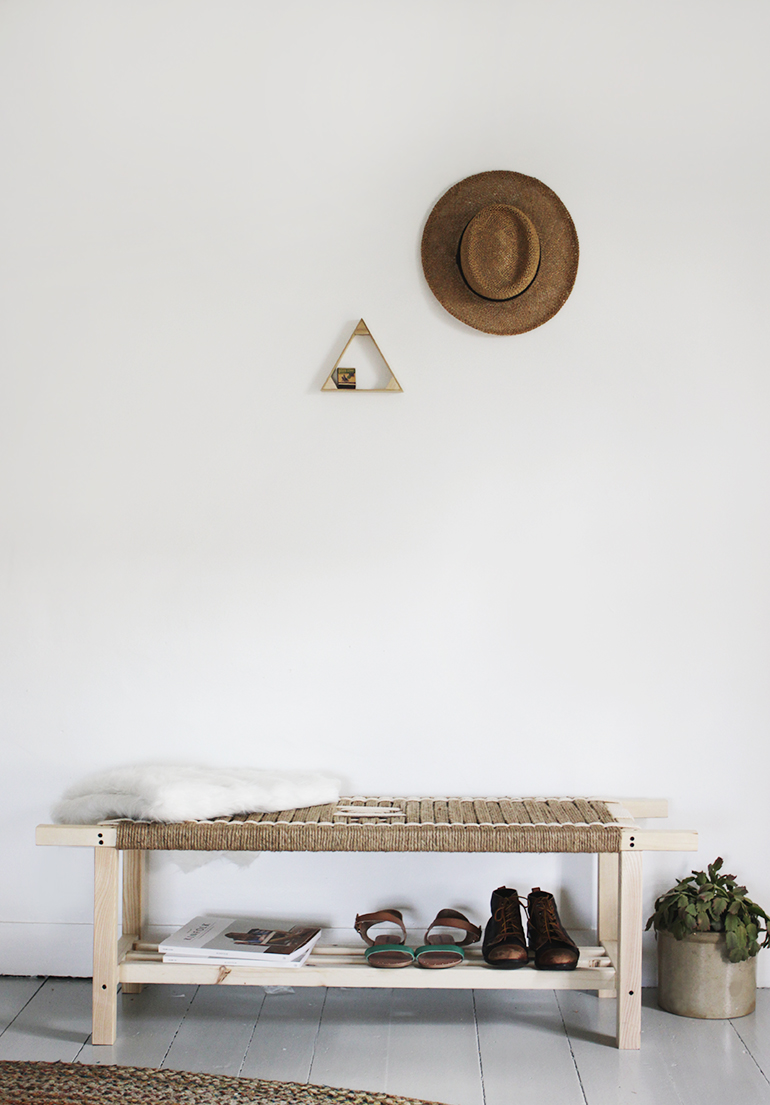 Woven bench from The Merrythought