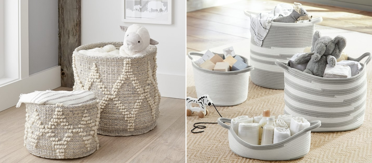 Woven storage solutions from Pottery Barn Kids