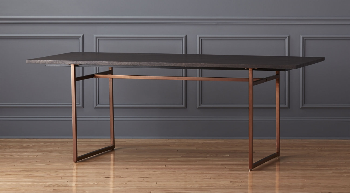 Copper-legged table by CB2