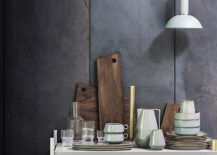 A wooden cutting board vignette from ferm LIVING 217x155 Grey and Wood: A Match Made in Design Heaven