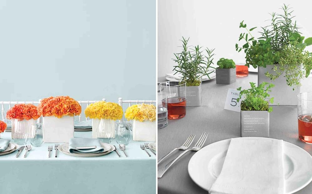 Affordable centerpiece ideas from Martha Stewart Weddings