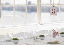 Balloon centerpiece idea from Martha Stewart Weddings