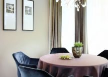 Beautiful and delicate living for the small dining room