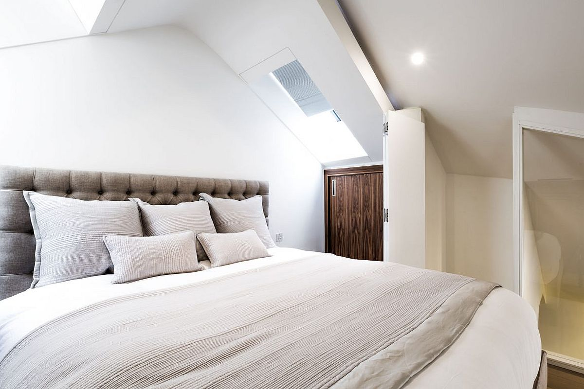 Bedroom offers additional storage options and also leads to the small bathroom