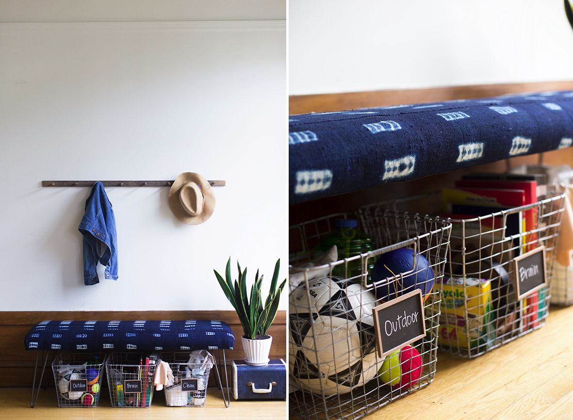 Below-bench storage from Say Yes