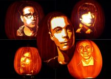 Big Bang Theory theme pumpkins on display [From: geekoutlaw]